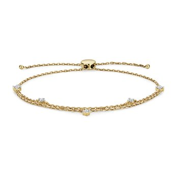 Diamond Bracelet With Dbl Chain