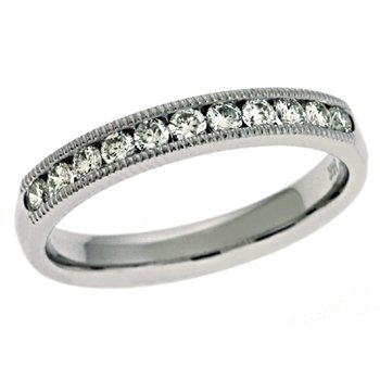 Millgrain Set Diamond Band