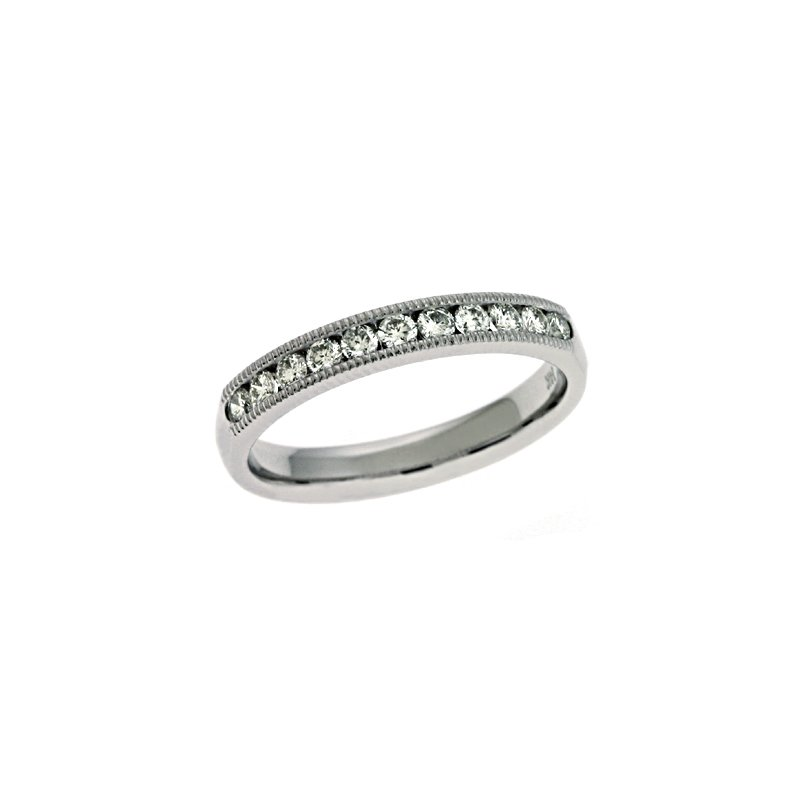 S. Kashi & Sons Bridal Millgrain Set Diamond Band