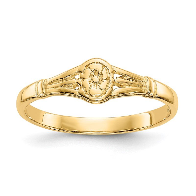 Quality Gold 14K Gold Polished Oval Baby Ring