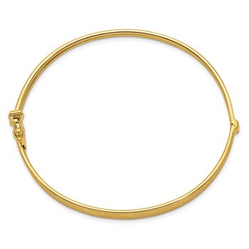 14k Satin Finish Graduated Hinged Bangle