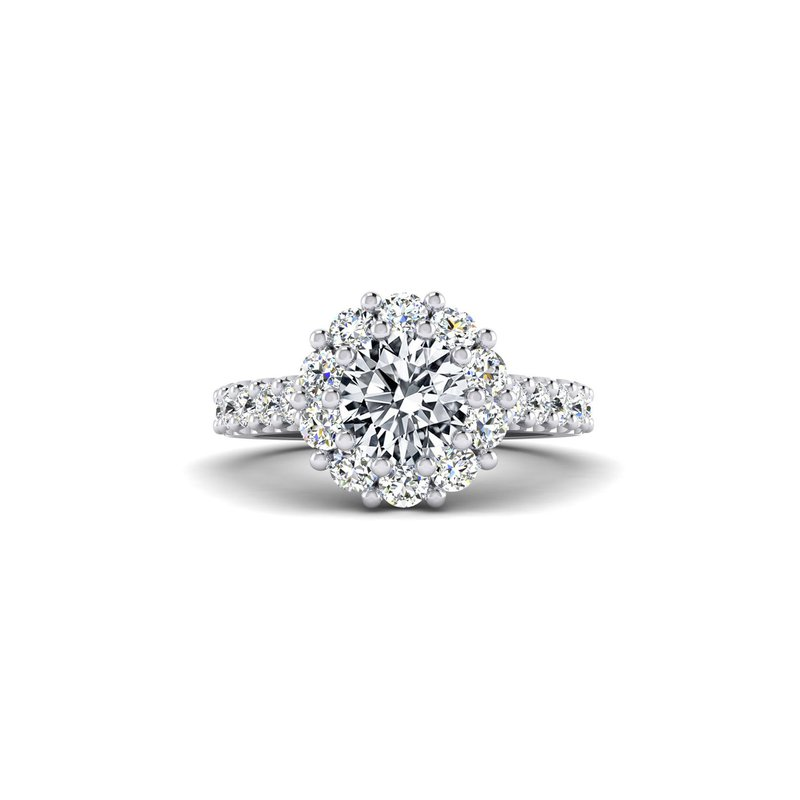 Toodie's Bridal Flowery Diamond Halo Engagement Ring