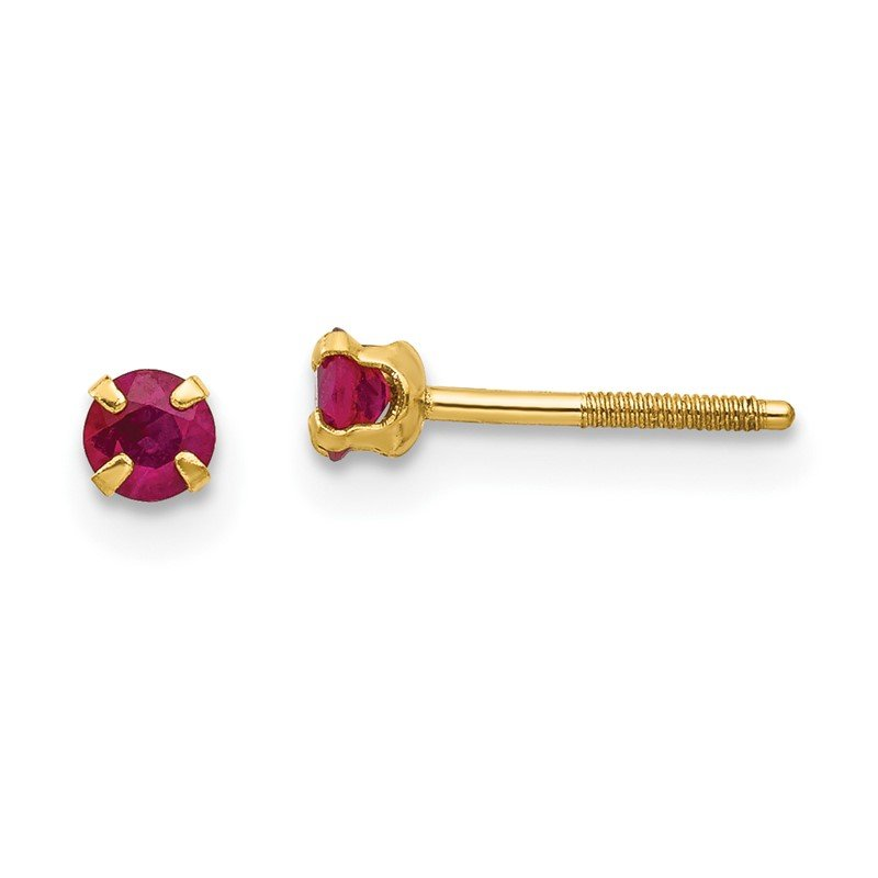 Quality Gold 14k Madi K 3mm Ruby Earrings