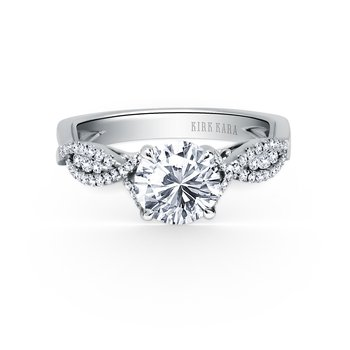 Twist Filigree Diamond Engagement Ring