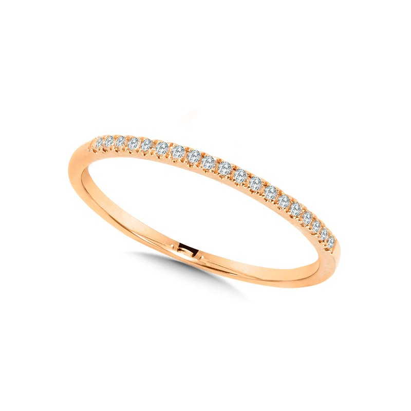10K Petite Stackable Diamond Band