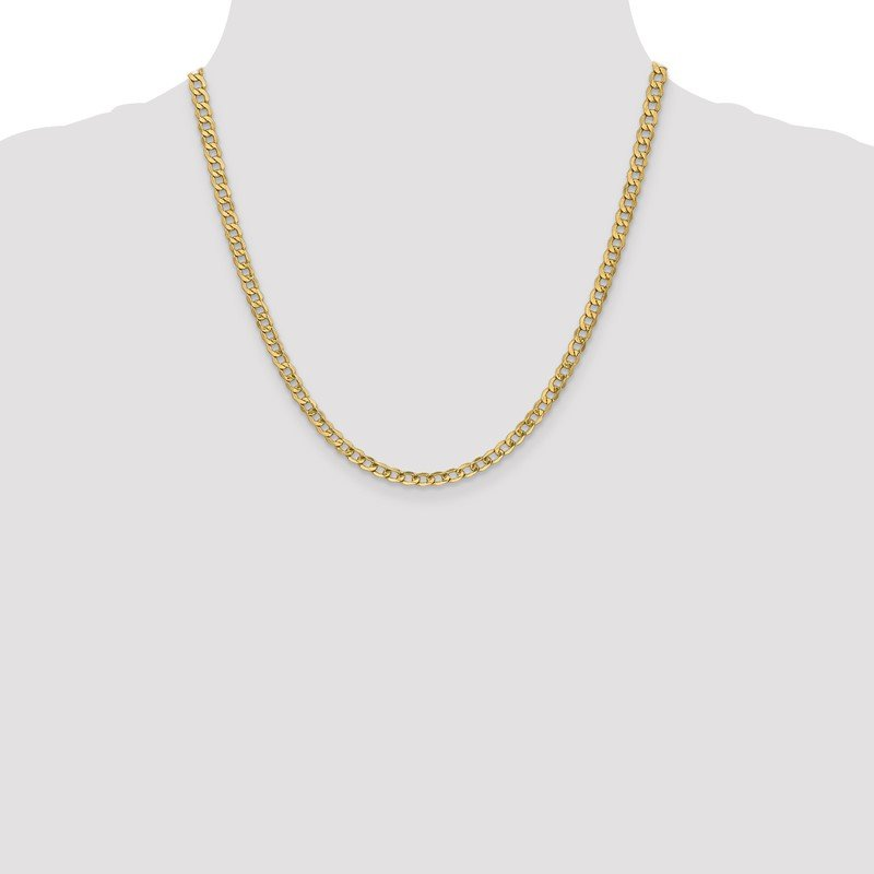 Quality Gold 14k 4.3mm Semi-Solid Curb Chain