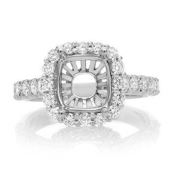 White Gold Cathedral Engagement Setting