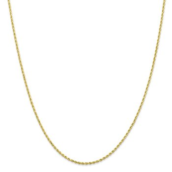 Leslie's 10K 1.75mm Diamond Cut Rope Chain