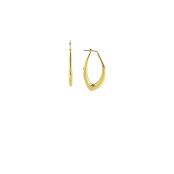18Kt Gold Graduated Marquis Shaped Hoop Earring