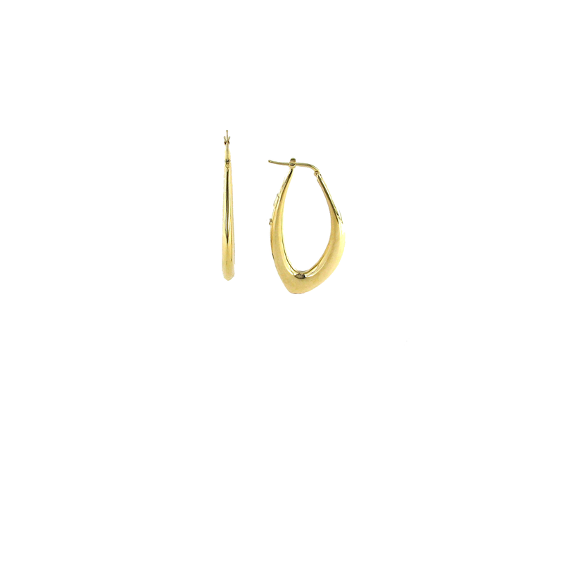 Roberto Coin 18KT GOLD GRADUATED MARQUIS SHAPED HOOP EARRING