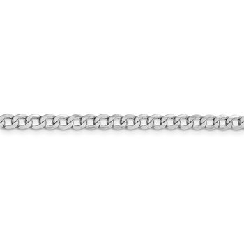 14k WG 4.3mm Semi-Solid Curb Chain