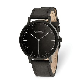 Chisel Matte Black IP-plated Black Dial Watch