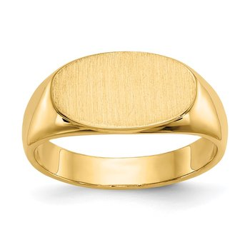 14k 8.0x13.5mm Closed Back Signet Ring