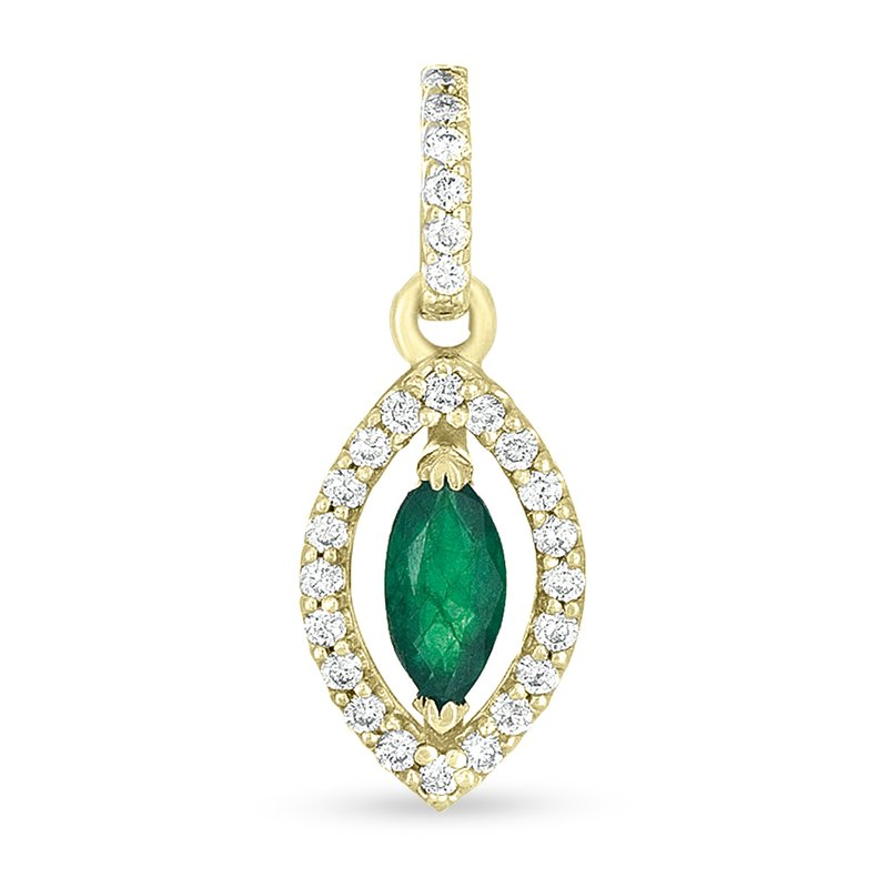 Briana Emerald & Diamond Pendant