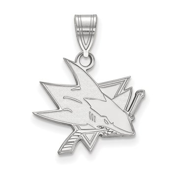 Sterling Silver San Jose Sharks NHL Pendant