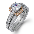 Simon G MR1894-D WEDDING SET