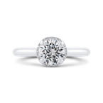 Carizza 14K White Gold Round Diamond Engagement Ring (Semi-Mount)