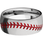 Lashbrook Designs 8DBASEBALL_A+RED_BEAD