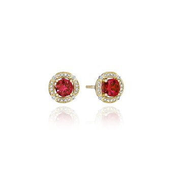 From Dawn to Dusk All-Occasion Ruby and Diamond Studs