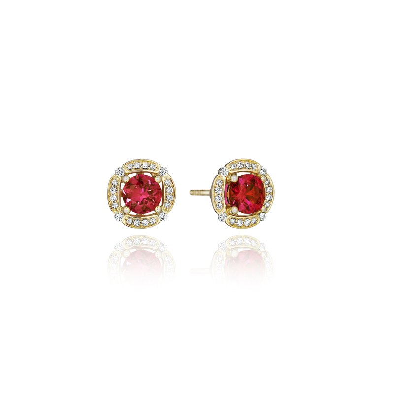 Fana From Dawn to Dusk All-Occasion Ruby and Diamond Studs