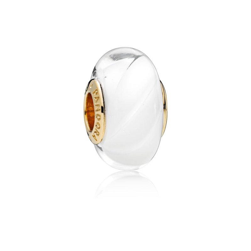 Pandora White Waves Charm, Pandora Shine™ Murano Glass