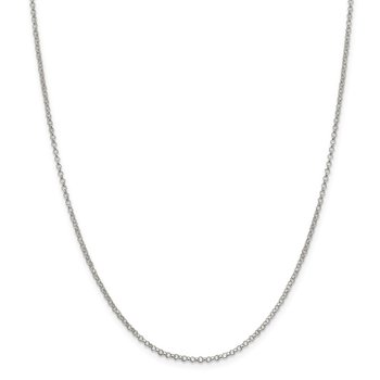 Sterling Silver 2mm Rolo Chain Anklet