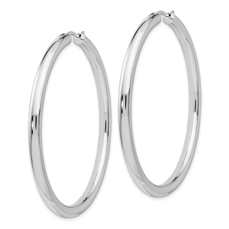 Leslie's Leslie's Sterling Silver Rhodium-plated 3.5mm Tube Earrings