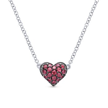 925 Silver Ruby Necklace