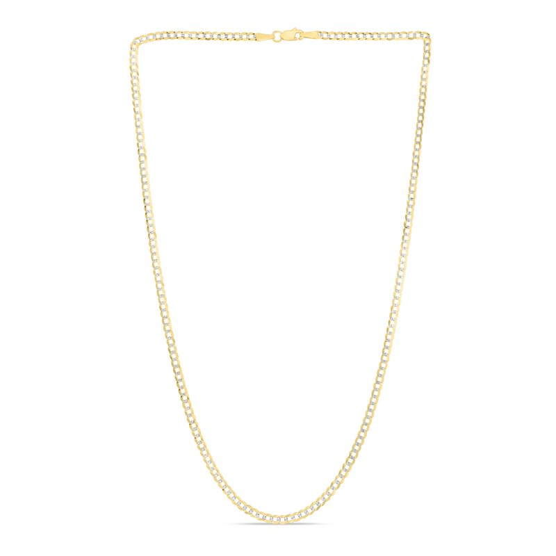 Royal Chain 14K Gold 2.6mm White Pave Curb Chain