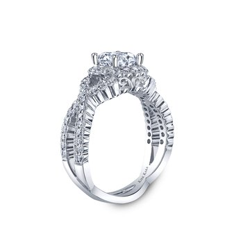 Kirk Kara Platinum Diamond Halo Ring