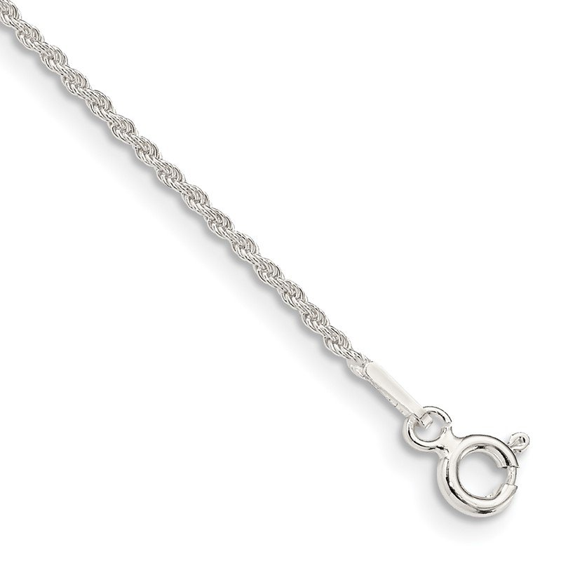Quality Gold Sterling Silver 1.3mm Solid Rope Chain Anklet