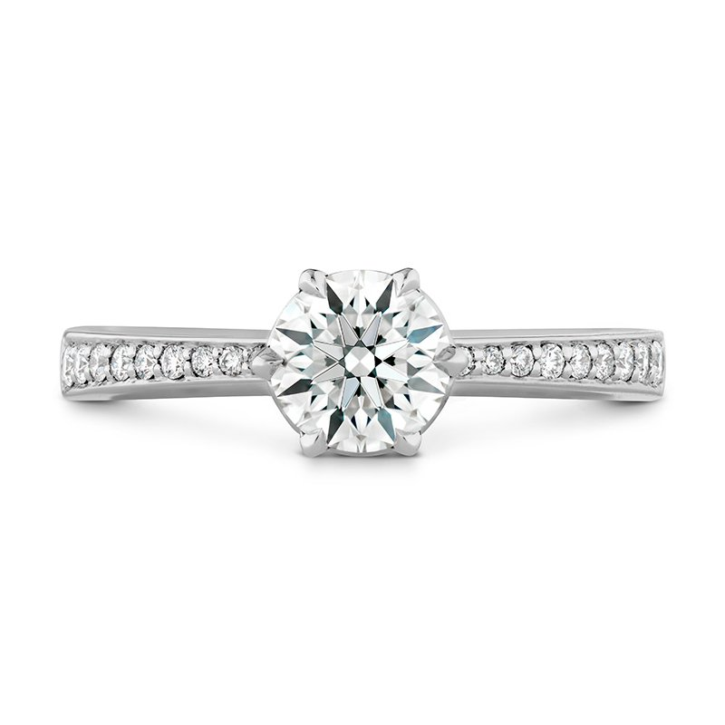 Hearts on Fire 0.1 ctw. HOF Signature 6 Prong Engagement Ring - Diamond Band