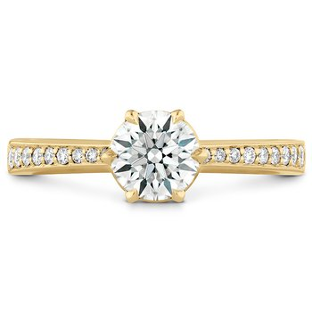 0.1 ctw. HOF Signature 6 Prong Engagement Ring - Diamond Band