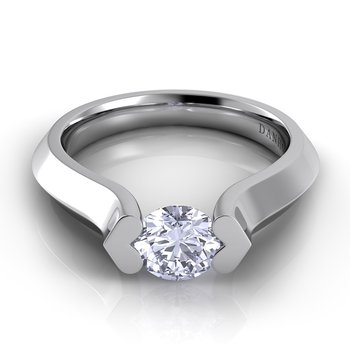 Voltaggio Knife Edge Engagement Ring