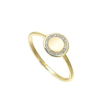 Diamond Eternity Halo Ring in Yellow Gold (0.06ctw)
