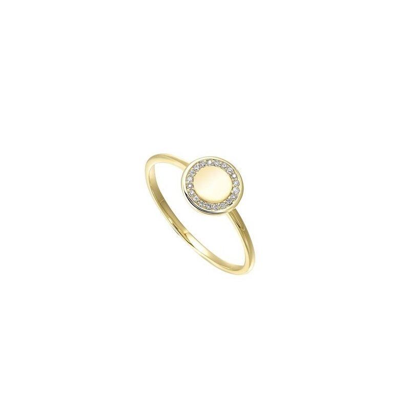 Gems One Diamond Eternity Halo Ring in Yellow Gold (0.06ctw)