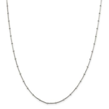 Sterling Silver 1.25mm Fancy Beaded Box Chain