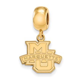 Gold-Plated Sterling Silver Marquette University NCAA Bead