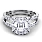 Danhov Per Lei Double Shank Engagement Ring