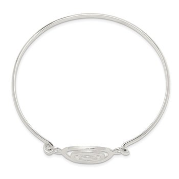 Sterling Silver Mutli-circle Bangle Bracelet
