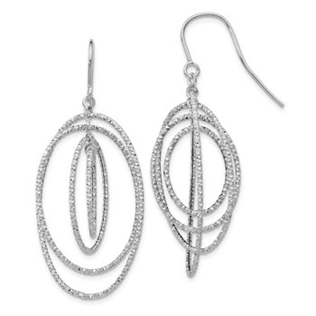 Leslie's 14K White Gold D/C Dangle Earrings