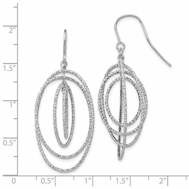 Leslie's Leslie's 14K White Gold D/C Dangle Earrings