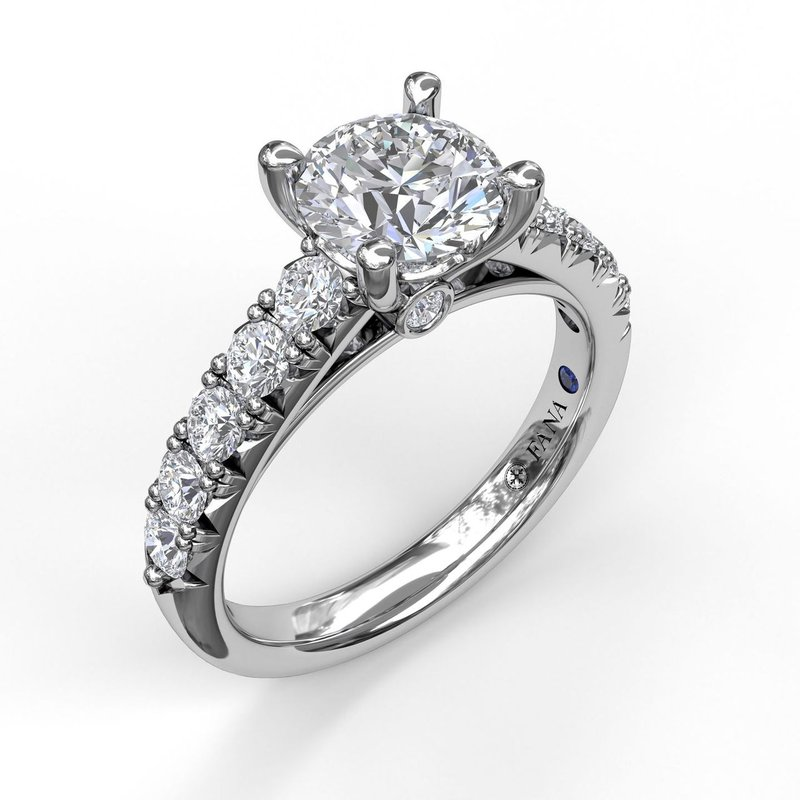 Fana Handset French Pave Diamond Engagement Ring