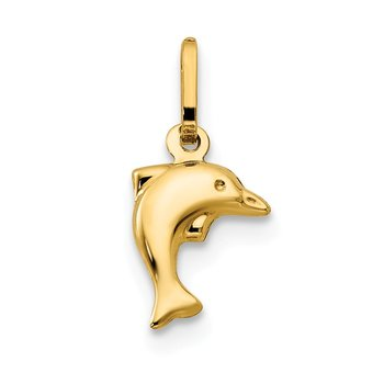 14k Madi K Small Hollow Dolphin Charm