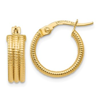 Leslie's 14K Fancy Hoop Earrings