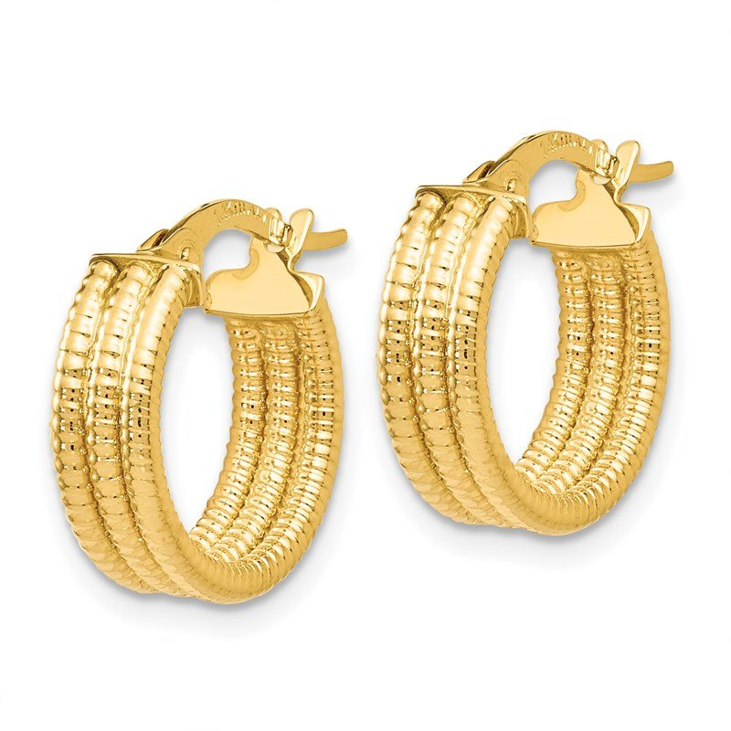 Leslie's Leslie's 14K Fancy Hoop Earrings