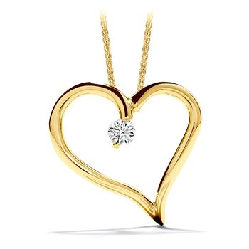 0.12 ctw. Amorous Heart Pendant Necklace