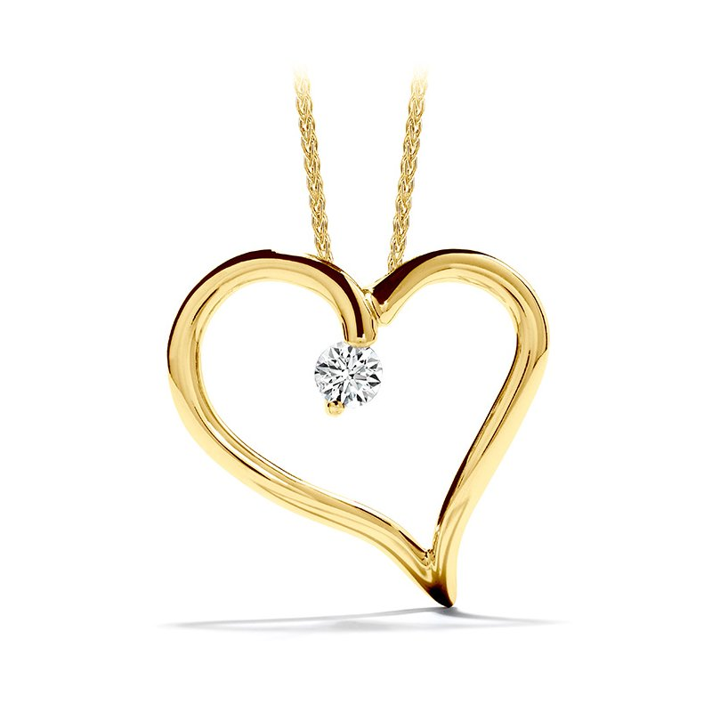 Hearts on Fire 0.12 ctw. Amorous Heart Pendant Necklace