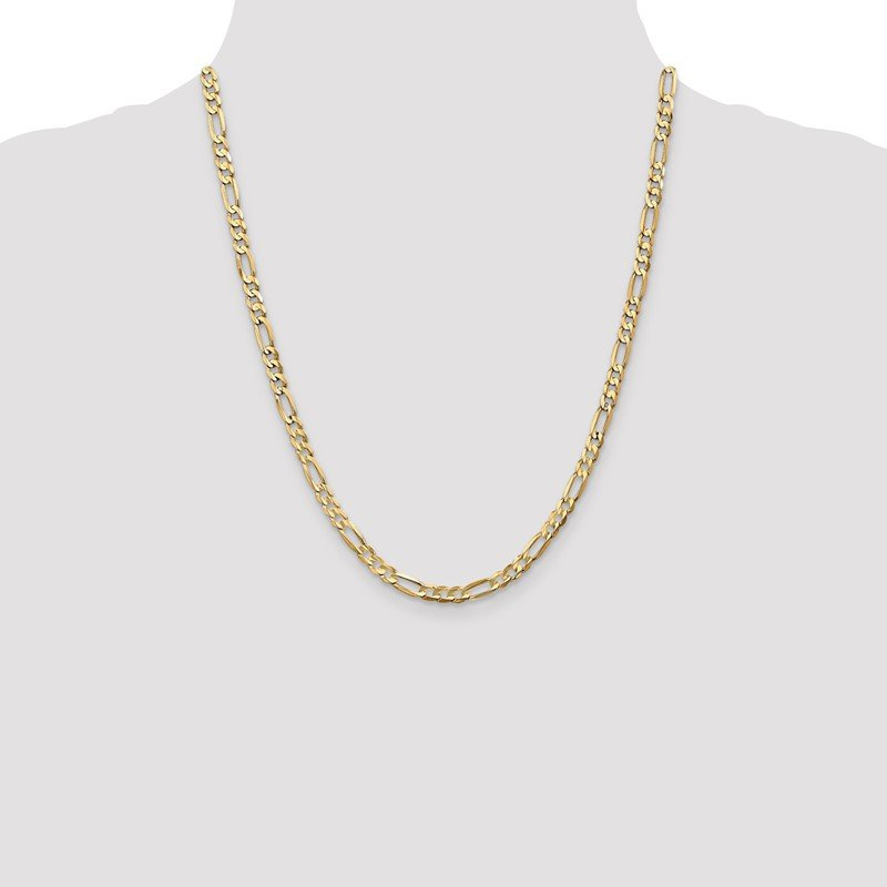 Lester Martin Online Collection 10k 4.5mm Light Concave Figaro Chain