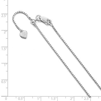 Leslie's Sterling Silver 11in Adjustable Box Chain